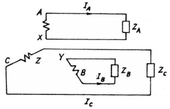 mạch 3 pha gồm 3 mạch điện 1 pha riêng lẻ